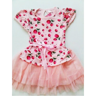 dress strawberry Model Baju Dress Anak Perempuan 2014