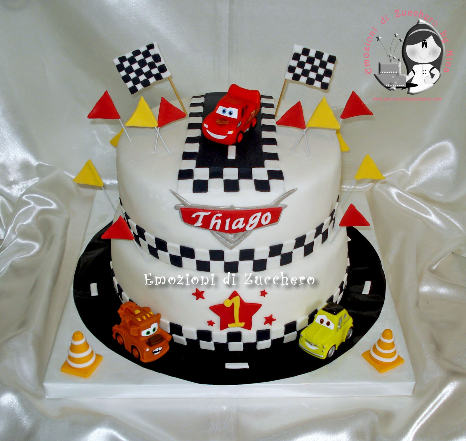 Torte Cake Design Cars : Emozioni di Zucchero by Nina - Torte decorate con pasta di ...