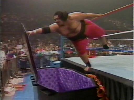 WWF / WWE - Survivor Series 1994: Yokozuna battled The Undertaker in a rematch from their 1994 Royal Rumble casket match