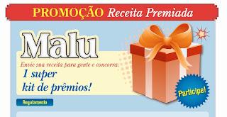"""Promoção """"Receita Premiada"""" - Revista Malu"""
