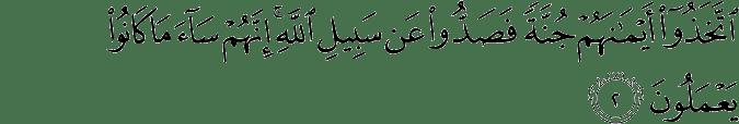 Surat Al-Munafiqun ayat 2