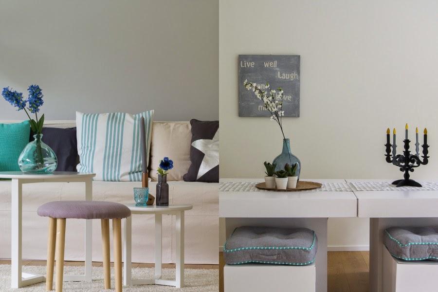 Licht woonkamer grijs muurverf - Kleur verf moderne woonkamer ...