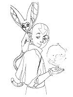 Avatar Aang Bermain Dengan Momo SiTupai Terbang