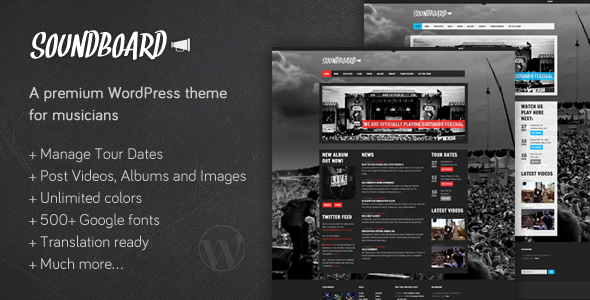 ThemeForest - Soundboard - a Premium Music WordPress Theme