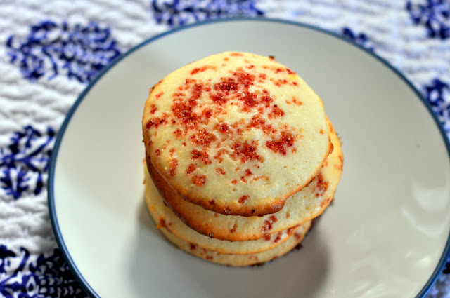 Lemon Ricotta Cookies with Raspberry Cane Sugar | Taste As You Go