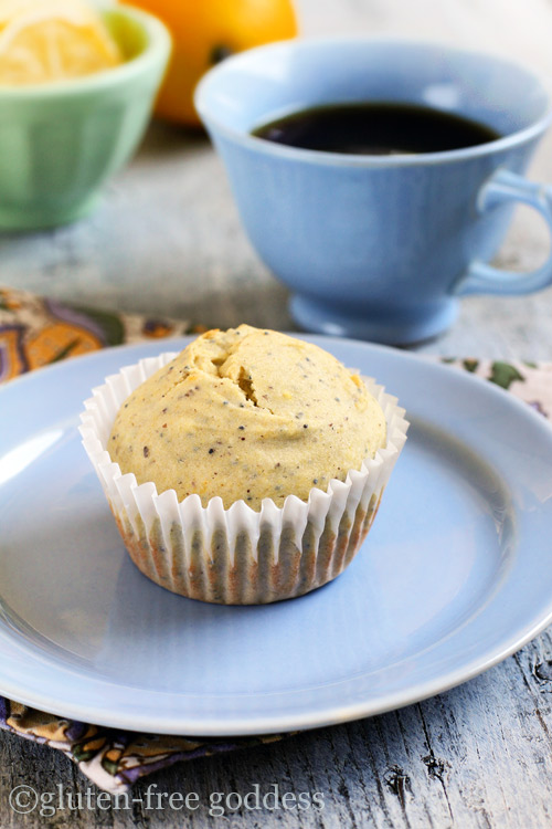 Multigrain gluten-free lemon poppy seed muffins