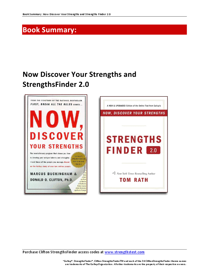 now discover your strengths  review