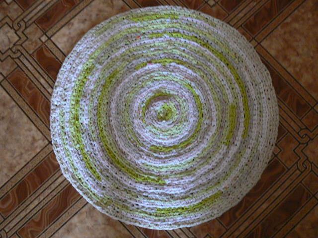 квадратный коврик из косичек своими руками