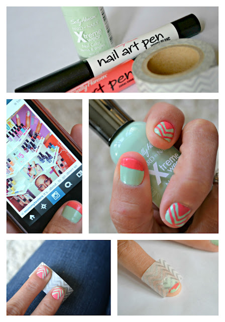 Mommy Testers Sally Hansen Color Block nail art collage  #IHeartMyNailArt #cbias