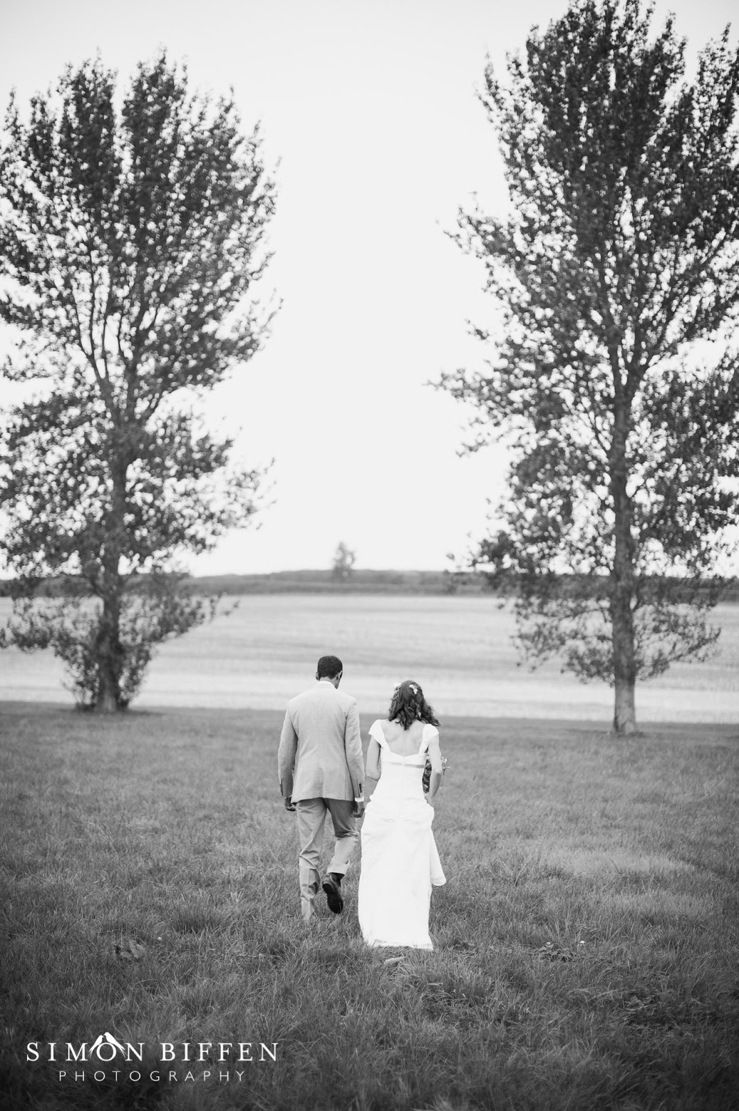 Bride and groom at Quantock Lakes wedding