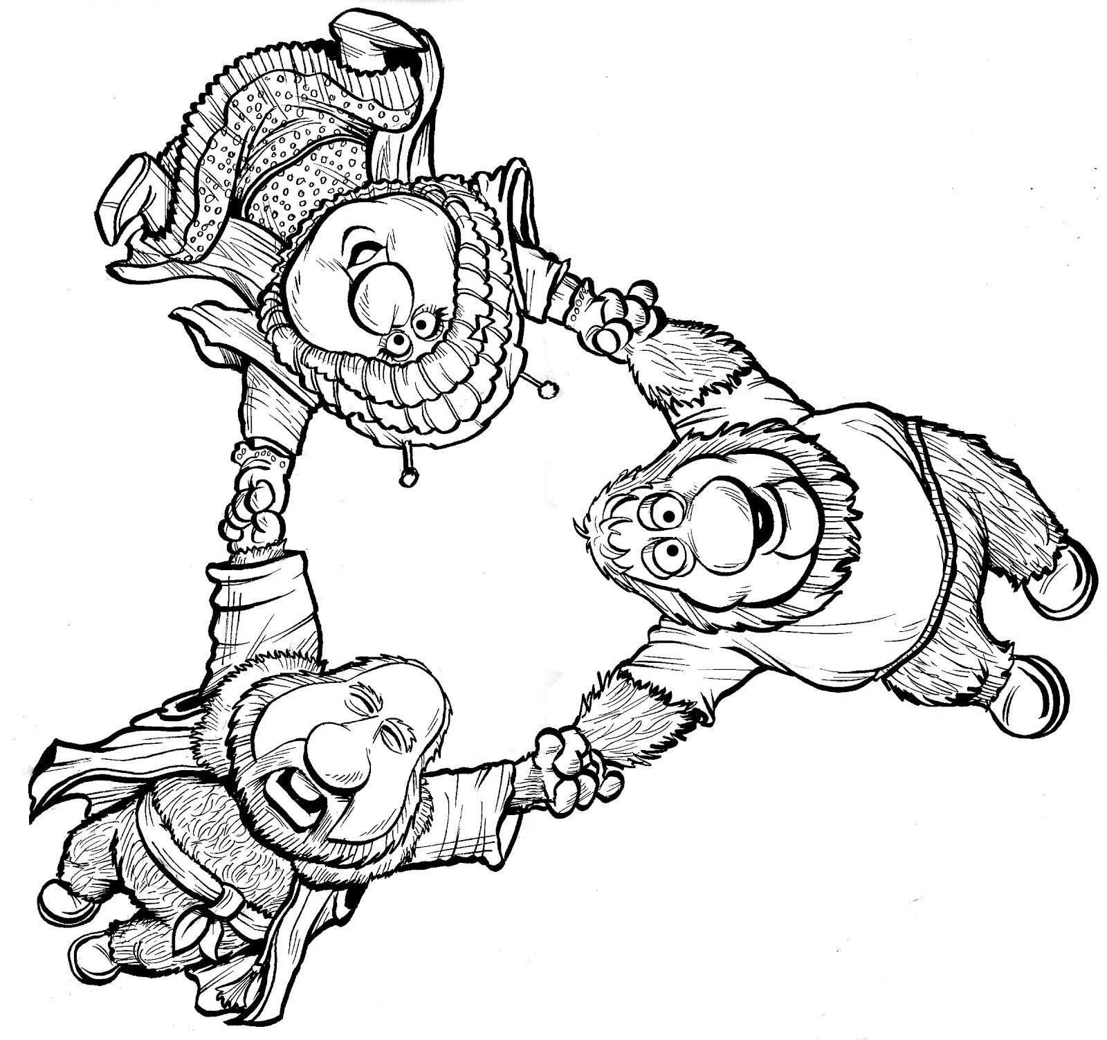 fragle rock coloring pages - photo#11