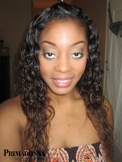 Brazillian hair weave washed with organix products