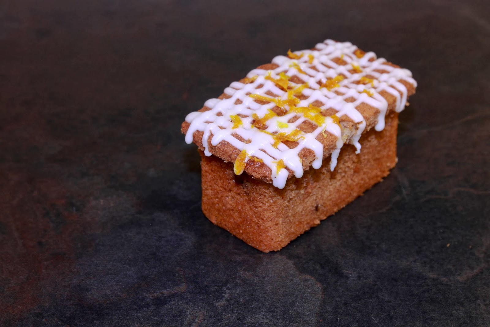 Mini orange cinnamon and sultana loaf cake