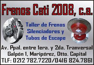 FRENOS CATI 2008, C.A. en Paginas Amarillas tu guia Comercial