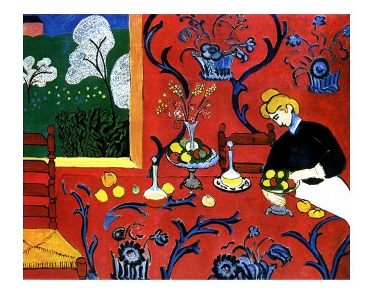B33 Suite: Le rouge chez Henri MATISSE