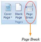 Perintah Page Break.