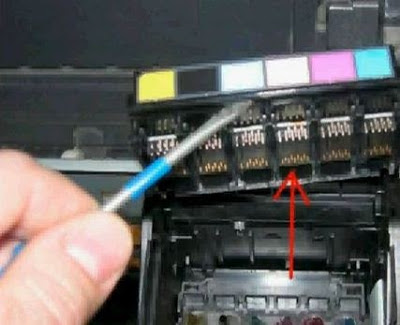 remove connectors epson printer head