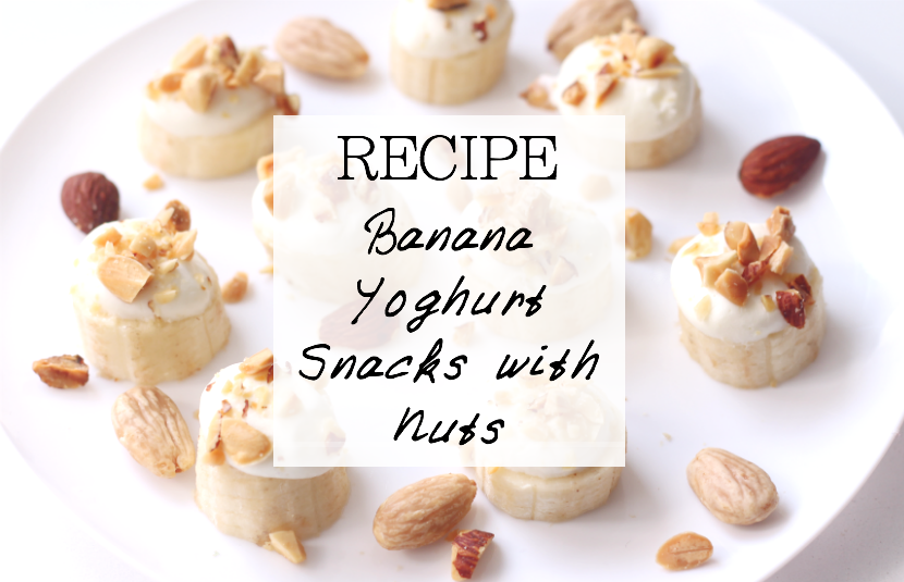 recipe for fast to make banana yoghurt snacks with nuts