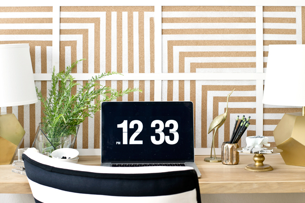 large striped corkboard
