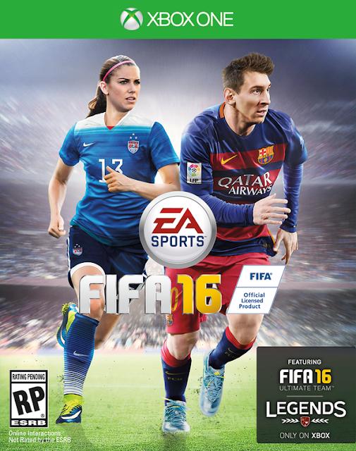 Alex Morgan fait la couverture de Fifa 16 avec Lionel Messi
