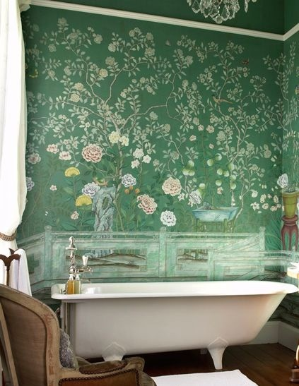To Da Loos Chinoiserie Bathroom Walls