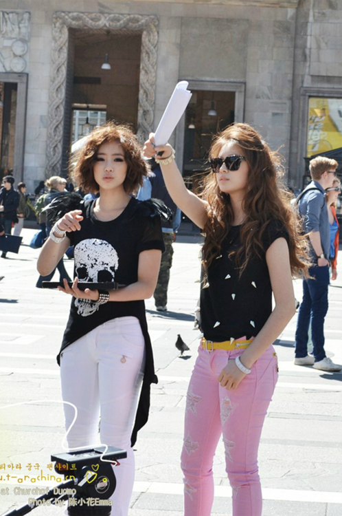 T-ara Eunjung and Jiyeon's Gorgeous Fantaken Photos from Milan ~ T ...