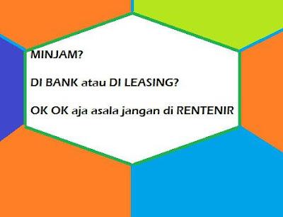 ilustrasi pinjaman bank dan finance untuk modal usaha