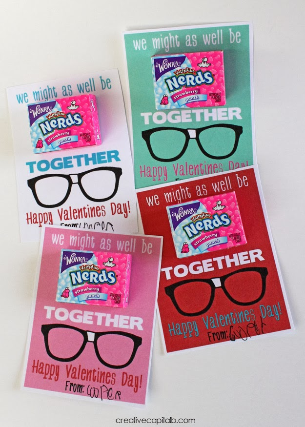 capital b: 'might as well be nerds together' valentines, Ideas