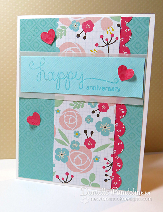 Happy Anniversary card by Danielle Pandeline for Newton's Nook Designs | Simply Sentimental Stamp Set