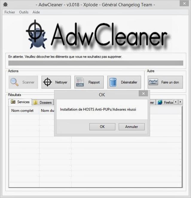 Infos technos informatique vid os hifi photos installer adwcleaner et hosts anti pups - Installer google sur le bureau ...