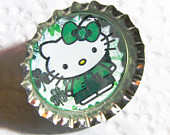 Hello Kitty Happy St Patrick's Day Ireland bottle cap