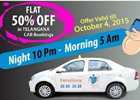 Yatra Genie Cab Bookings : FLAT 50% OFF for Telangana user only