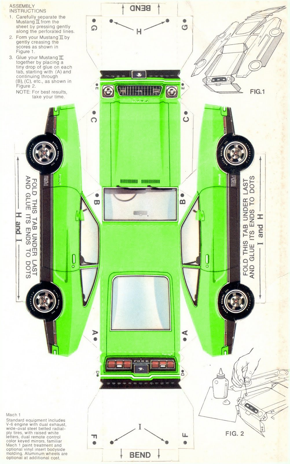 Green B Bmach B Bpaper Bcar Bmustang Bii Bhatchback Bpromotional Bsales Bbrochure on 1989 Jeep Wrangler Sales Brochure
