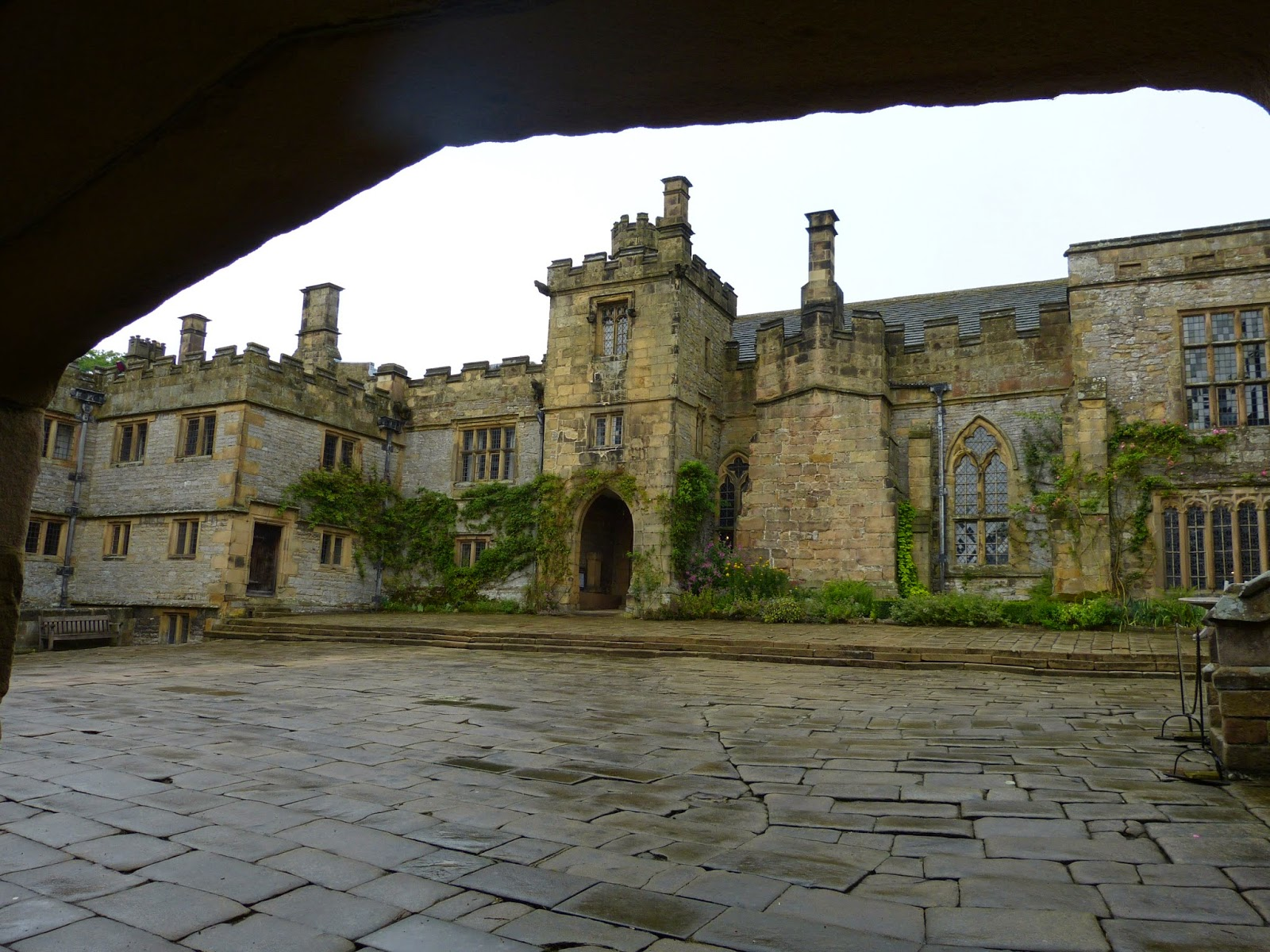 View of Haddon Hall from outside The Chapel