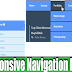 Flat drop down Responsive Navigation Menu - blogger widget