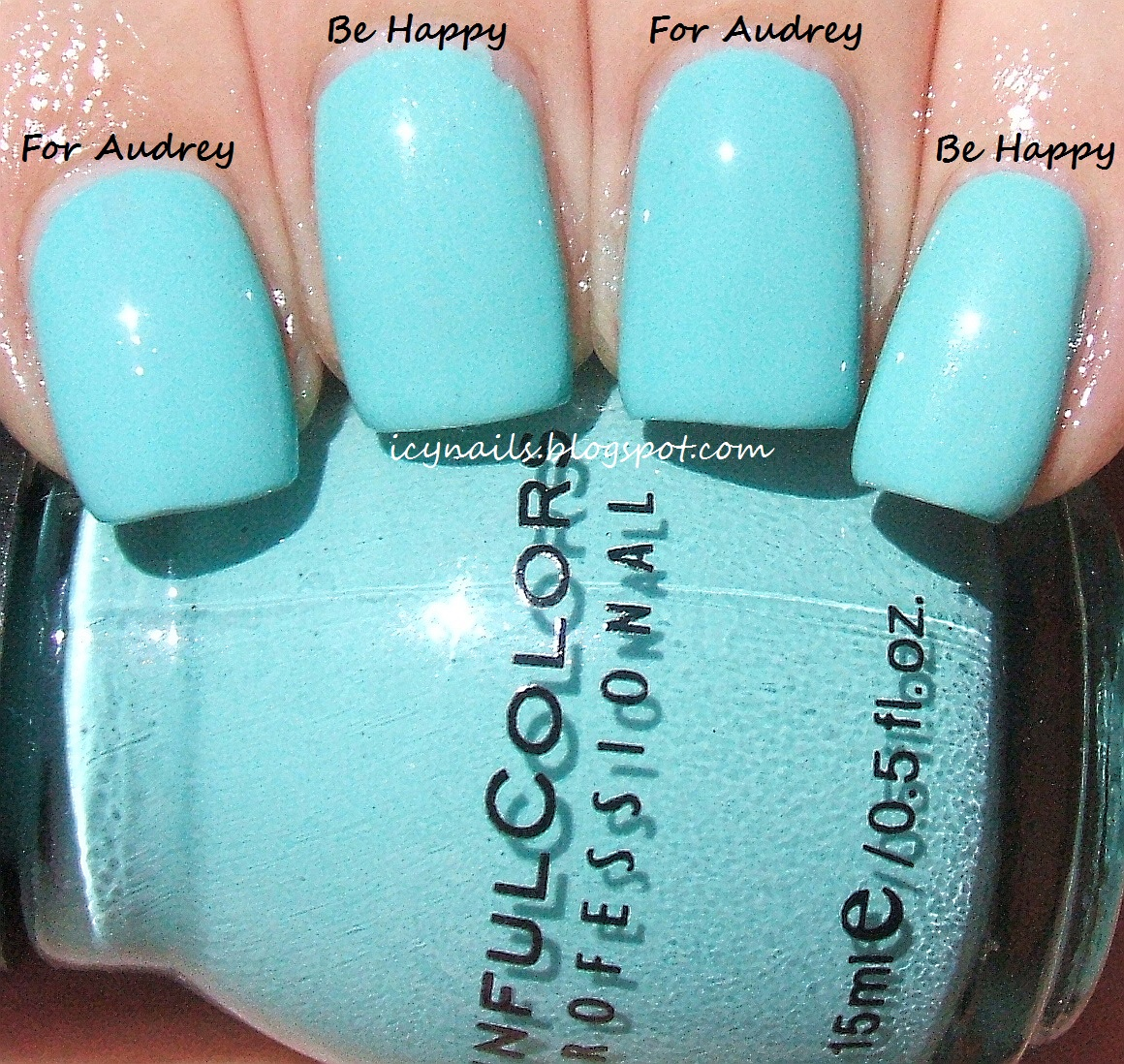 As You Can See From These Photographs China Glaze For Audrey And Sinful Colors Be Hy Are Extremely Close In Colour Tone But They Not Dupes