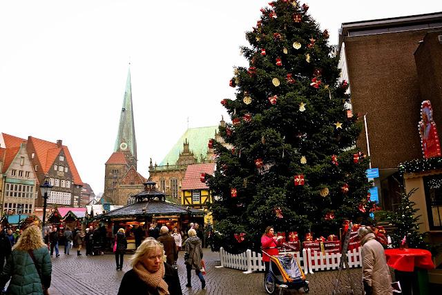 The Marktplatz in Bremen.