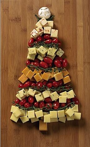 servir el queso en la mesa
