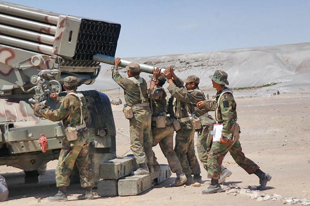 "El Sistema Lanzacohetes Múltiple Autopropulsado BM-21-1 ""Grad"" del Ejército Bolivariano BM-21+%25283%2529"