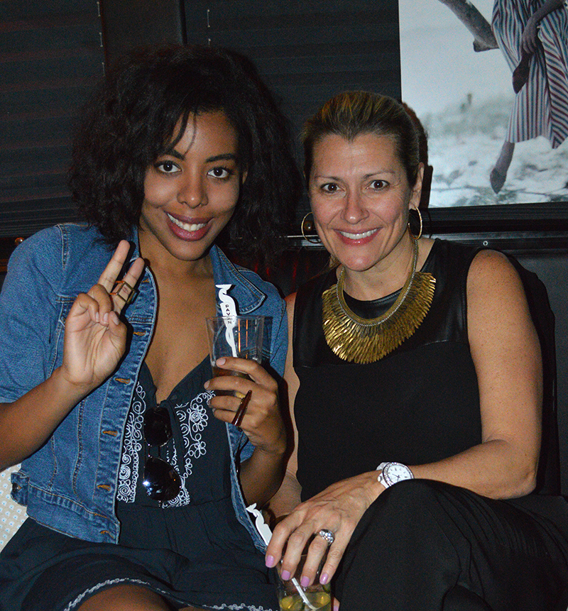 fashion blogger anais alexandre with senior account manager kristi of miami magazine