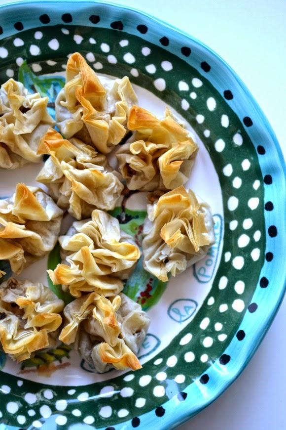 A Diary of Lovely: Recipe: Mushroom phyllo bundles