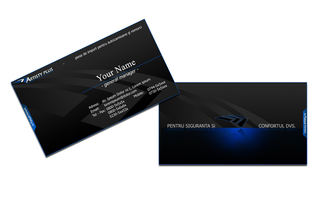 Carte Visite Professional PSD A Telecharger