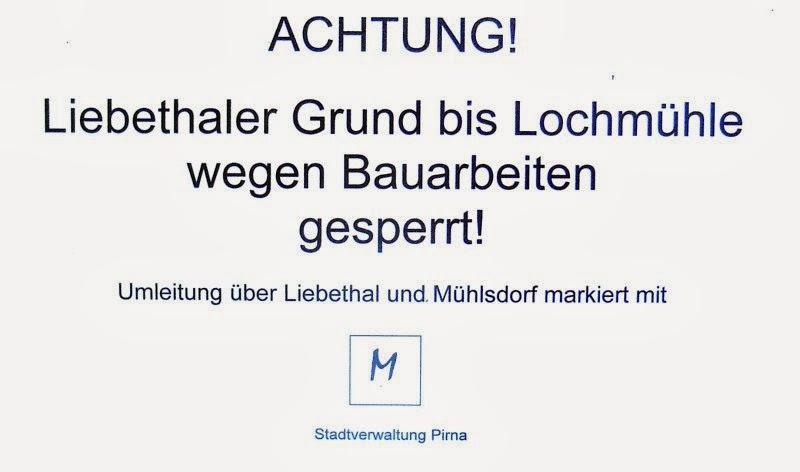 2013: Bauarbeiten im Liebethaler Grund