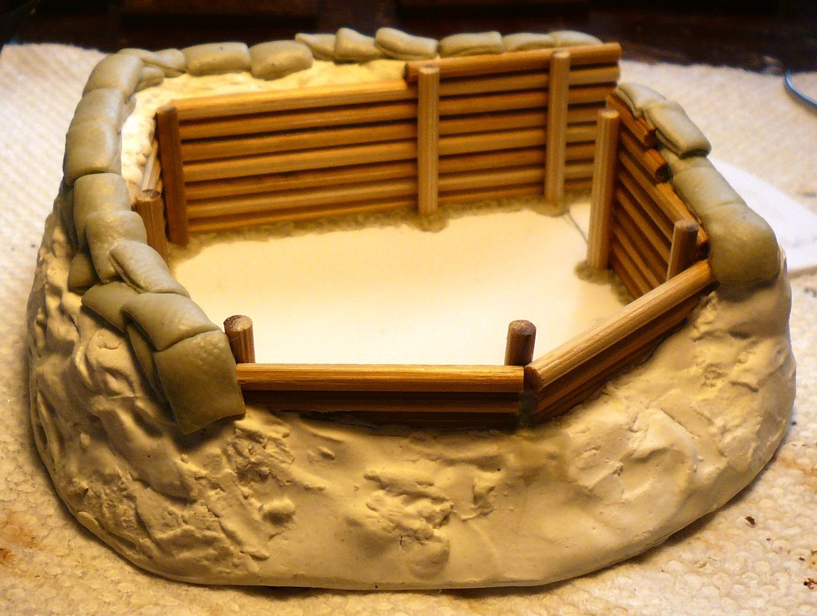 Sandbags, Front View