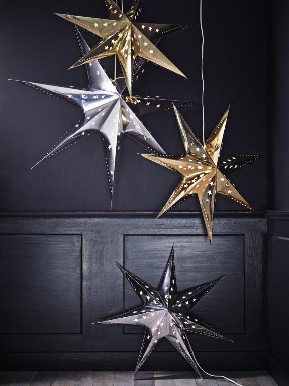 IKEA: Christmas Inspirations silver gold stars
