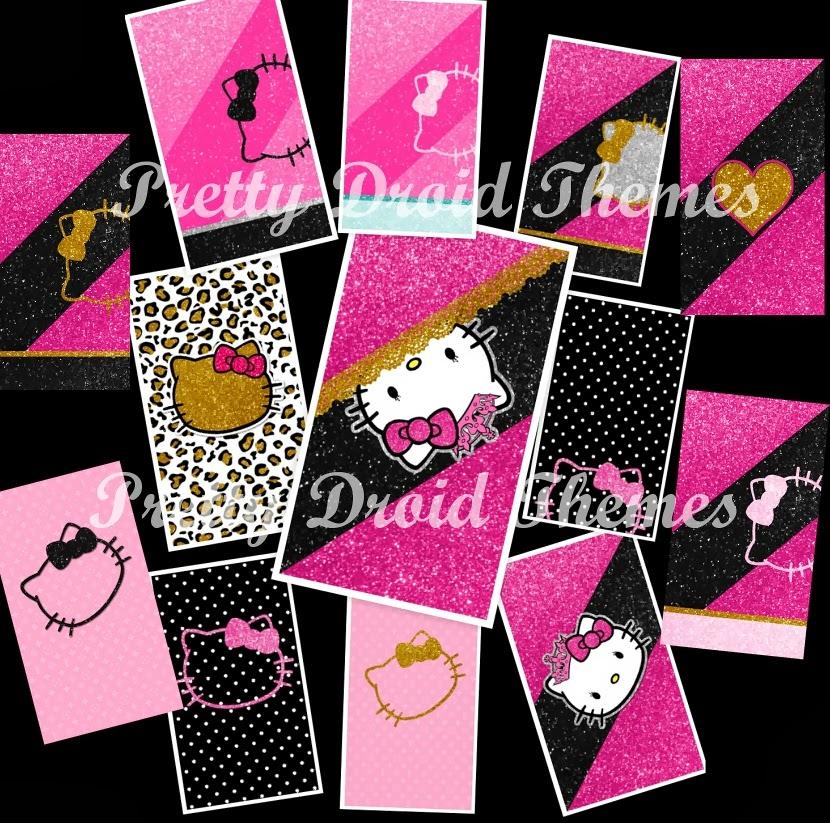 Pretty droid themes princess blingy kitty wallpaper pack for Pretty princess wallpaper