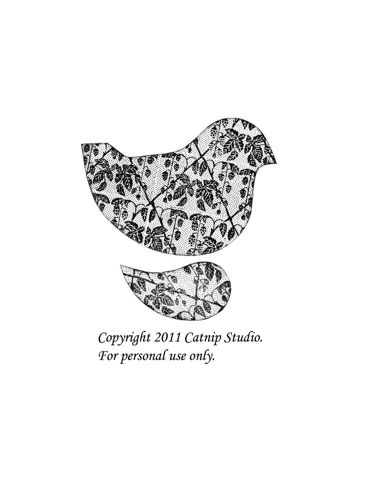 Catnip studio chronicles french hens turtle doves and a for Turtle dove template