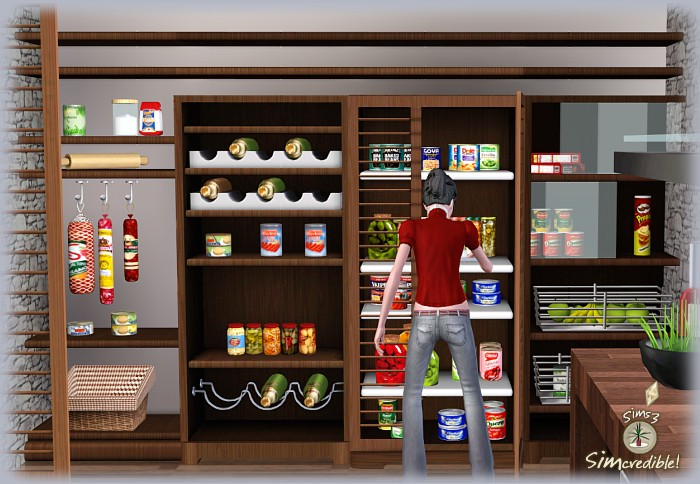 15 Kitchen Pantry Ideas With Form And Function: My Sims 3 Blog: Form & Function Kitchen, Pantry And