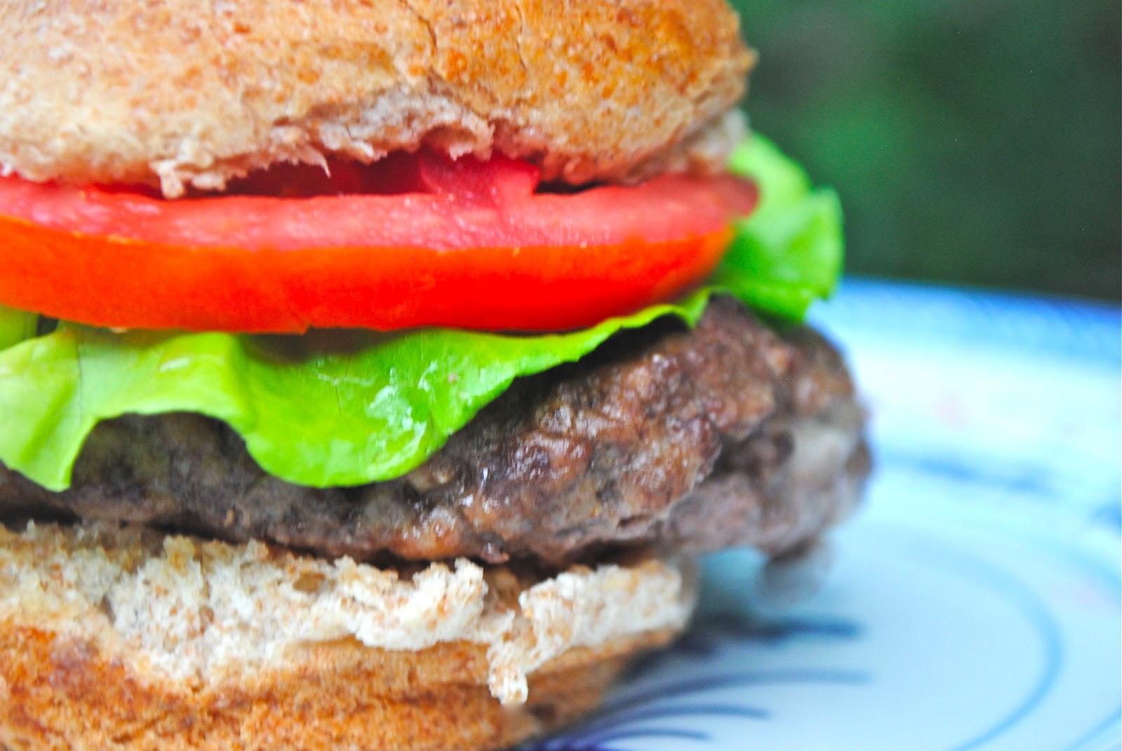 Horseradish, Cheddar, and Caramelized Onion-Stuffed Burgers