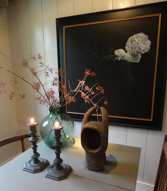 branch berries in vase